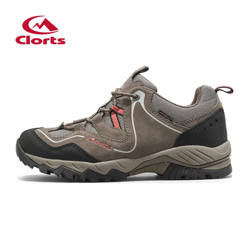 Clorts Outdoor Shoes Men Cow Suede Hiking Shoes Breathable Trekking Shoes Waterproof Climbing HKL-826D/G