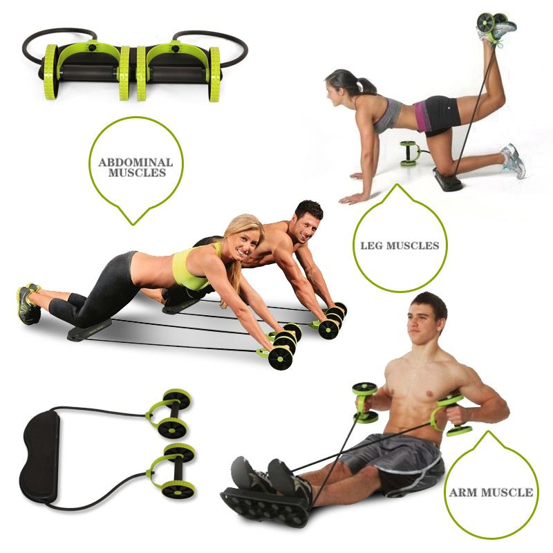 Ab Roller Wheel Abdominal Muscle Trainer Wheel Arm Waist Leg Exercise Multi-functional Gym Fitness Equipments For Dropshipping