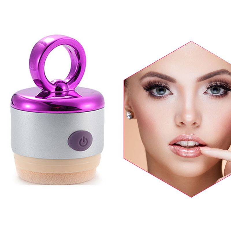 3D Electric Puff Foundation Face Powder Vibrator Puff Sponge Cosmetic Puff Beauty Tools For Women Lady Useful Gift  H7JP