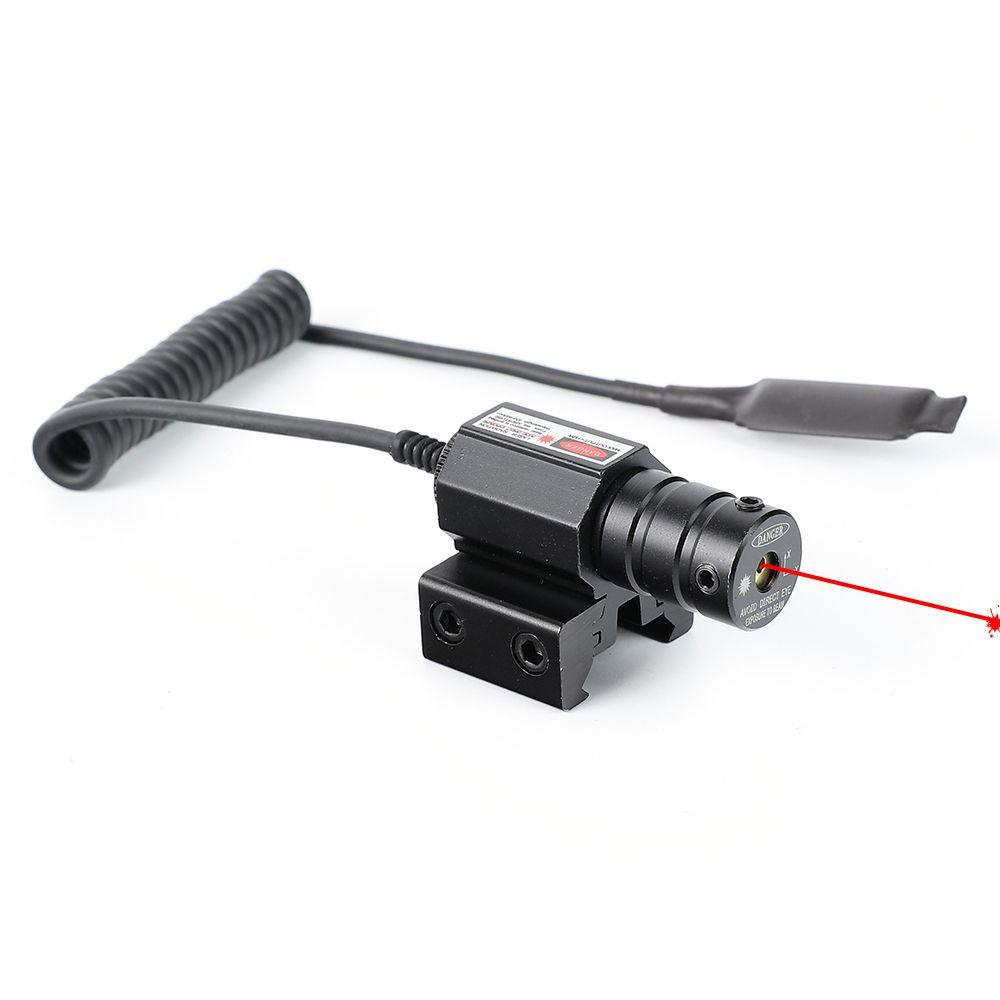 Ohhunt tactique chasse point rouge Mini portée de visée Laser rouge queue d'aronde ou tisserand Picatinny montage sur Rail avec pressostat à distance