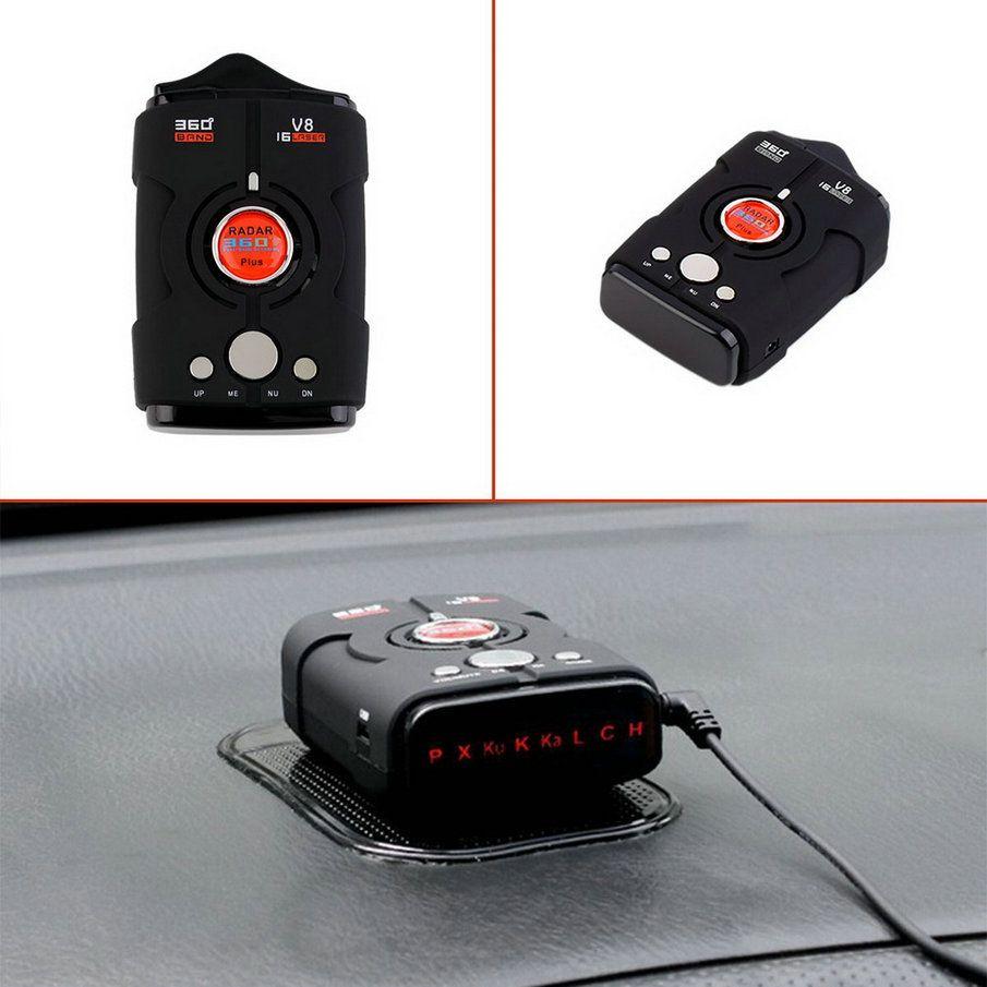 Newest V8 360 Degree Car Radar Detector 16 Band Russia/English Version LED Display Anti Radar Detector XK NK Ku Ka Laser Hot