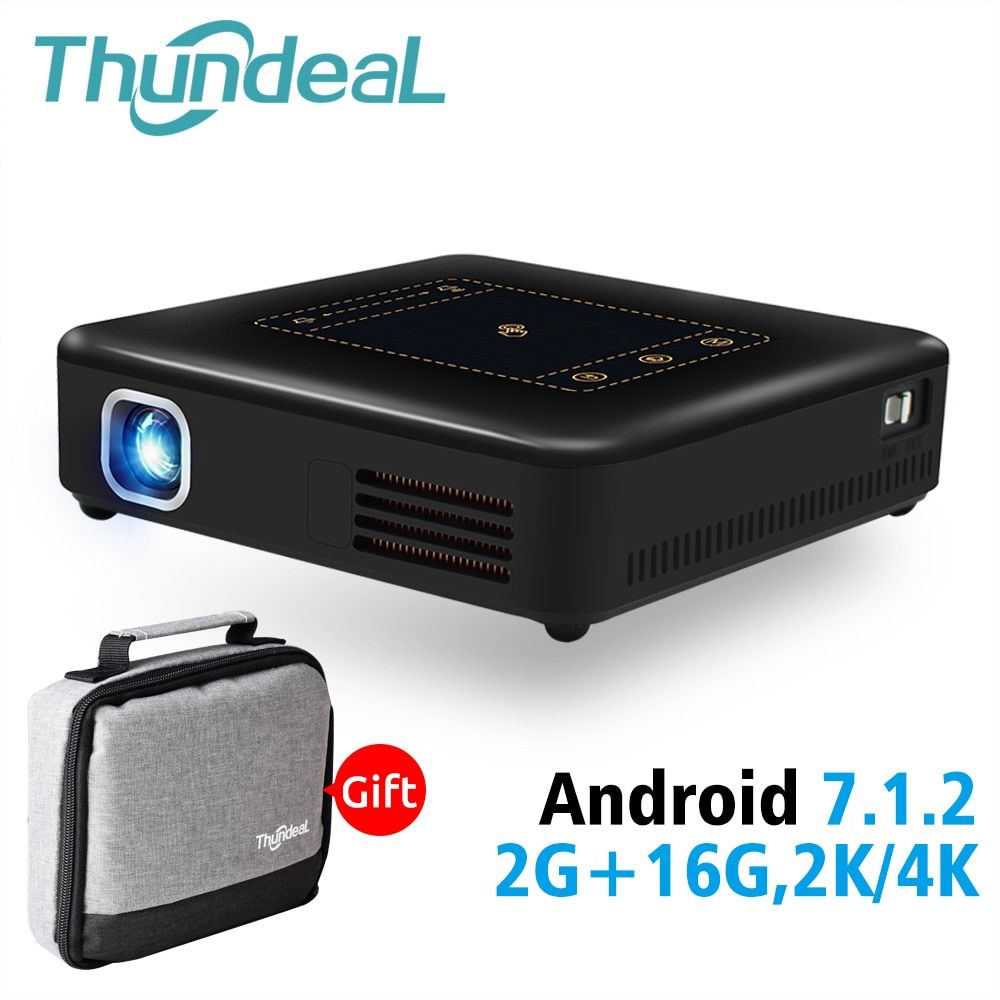ThundeaL Android 7.1 Projektor T20 Pico DLP 3D LED Projektor TouchPad WiFi Bluetooth Mini Unterstützung 4 K Beamer Batterie Heimkino