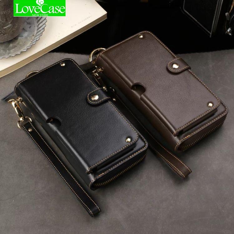 LoveCase Universal Mltifunction Leder Brieftasche Tasche Handy Tasche Für iphone X 6 s 7 8 plus Echt leder Fall Unterstützt 1-6,5 zoll