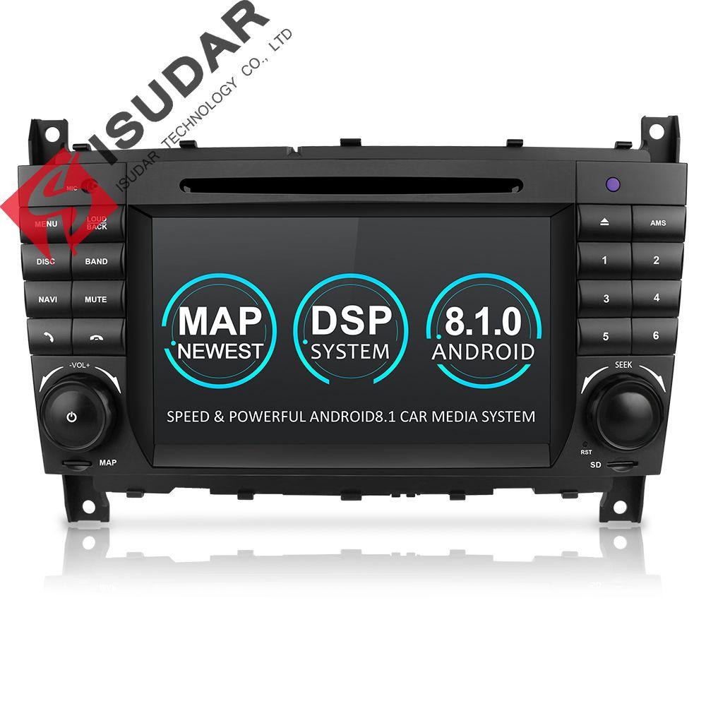 Isudar Zwei Din Auto Multimedia Player Android 8.1 DVD Player Für Mercedes/Benz/W203/CLK200/CLK22/ c180/C200 GPS Radio FM 2 GB 16 GB