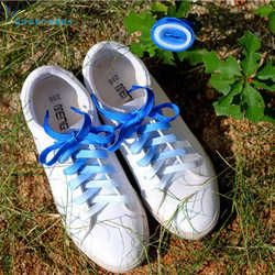 Flat Candy Color Gradient Shoe Laces Party Camping Boots Shoelace Canvas Strings Party Camping Shoelaces Growing Canvas Strings