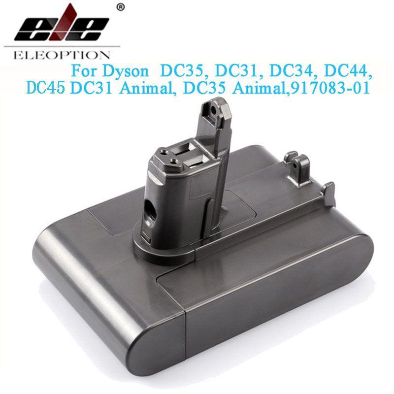 22.2 V 3000 mAh (uniquement adapté au Type B) batterie sous vide Li-ion pour Dyson DC35, DC45 DC31, DC34, DC44, DC31 Animal, DC35 Animal & 2.5Ah