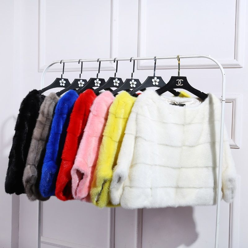 BFFUR Free Shipping Genuine Mink Fur Coat women full pelt Mink fur winter natural fur jacket plus size any color BF-P0008