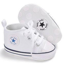 Lona ocasionales clásicos zapatos de bebé recién nacidos zapatillas deportivas primeros caminante niños botines niños mocasines