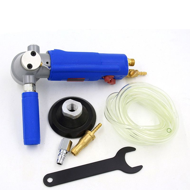Free Shipping Water Jet Pneumatic Grinder 3 or 4 Inch Marble Jade Stone Floor Air Polisher Sander Grinding Tool Three Gear Speed