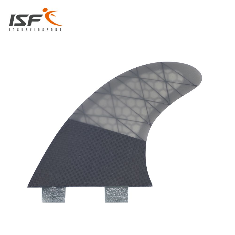 Insurfin Surfboard Fins Thruster tri fin Set (3) FCS Compatible Carbon Honeycomb Large Surf Fin M7