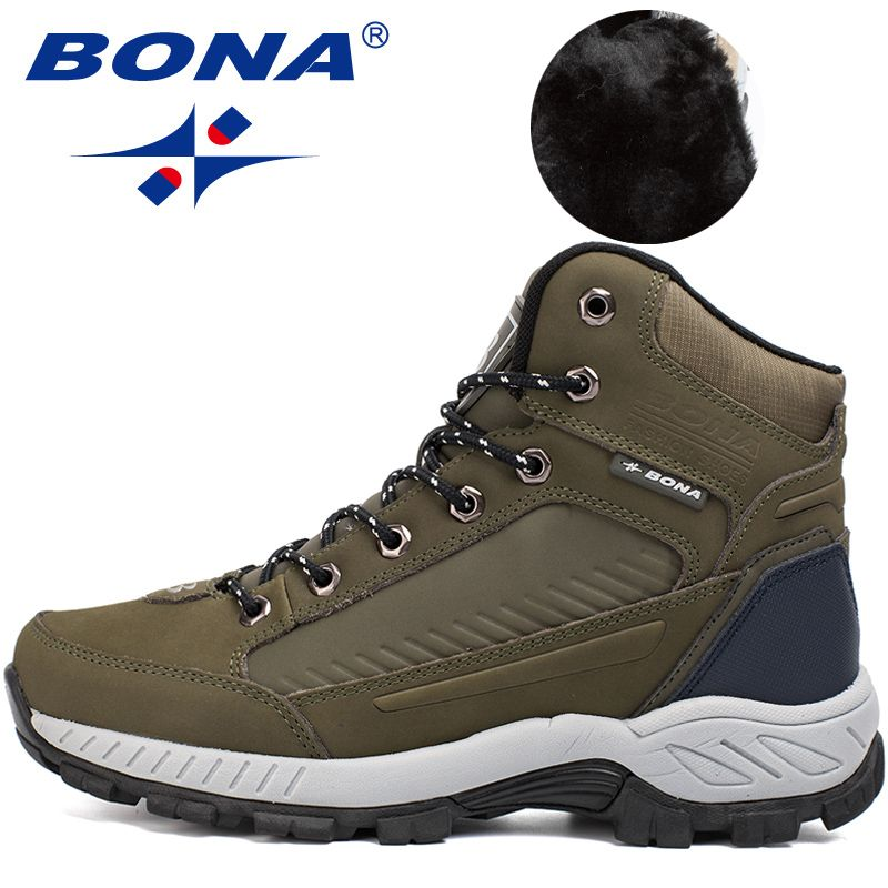BONA Neue Populäre Art Männer Wanderschuhe Outdoor Walkng Jogging Trekking Sneakers Lace Up Klettern Stiefel Für Männer Freies Verschiffen