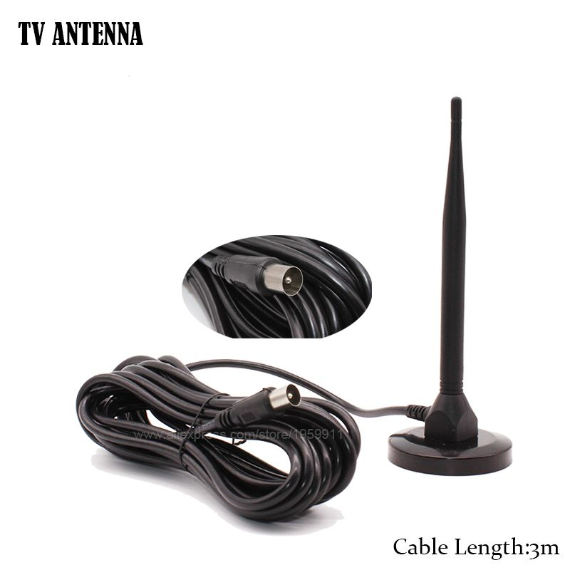 Numérique Intérieur Antenne Pour HDTV DVBT2 TNT Avec 3 m Câble Ch.13-57 1dB UHF DTMB Pour Terrestrail TV récepteur