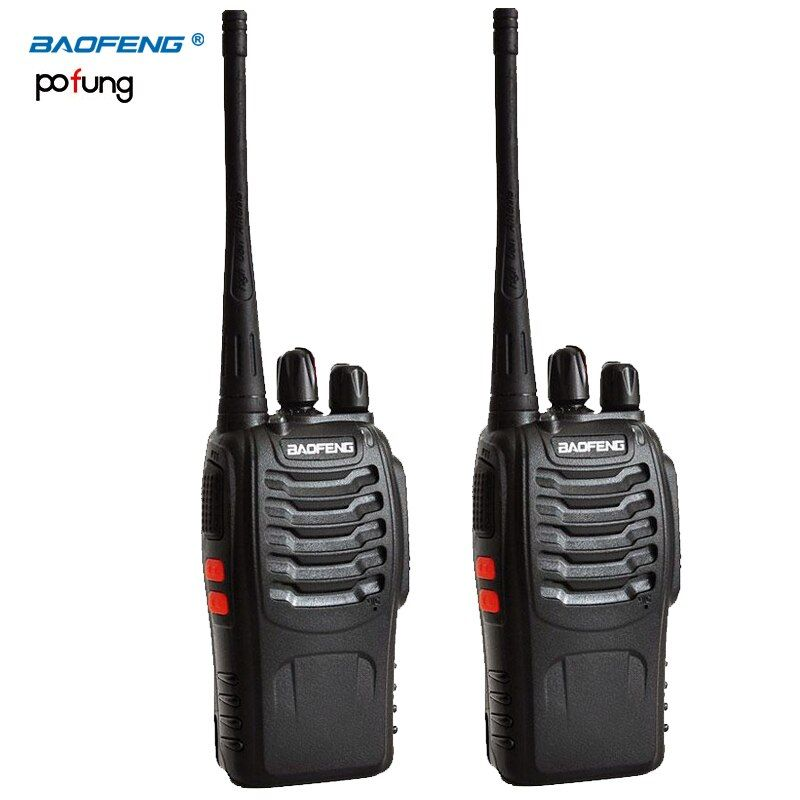 2 PCS Baofeng BF-888S Talkie Walkie bf 888 s 5 W Deux-way radio Portable CB Radio UHF 400-470 MHz 16CH Professionnel taklie talkie