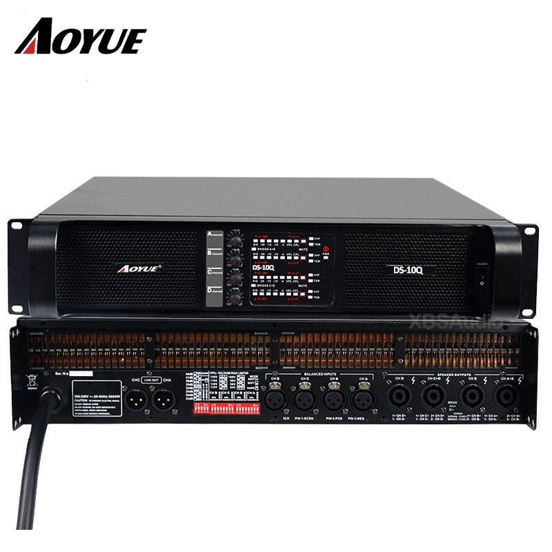 Amplifier 4 channels DS-10Q professional power amplifier factory