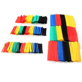 328 pcs 40/80mm Longueur Gaine Thermorétractable Tube Ensemble Polyoléfine 2:1 Électrique Wrap Fil Câble Gaines 5 couleurs