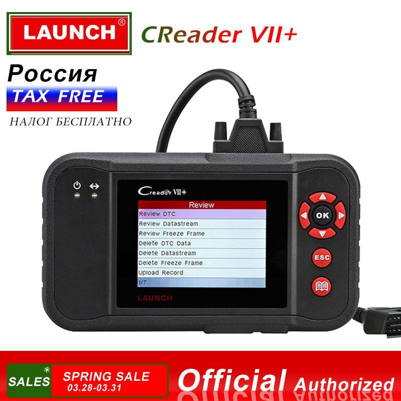 Launch Creader VII + Auto Code Reader Einführung X431 Creader VII Plus Motor ABS SRS Bremsen System obd obd2 Auto scanner Creader 7 +
