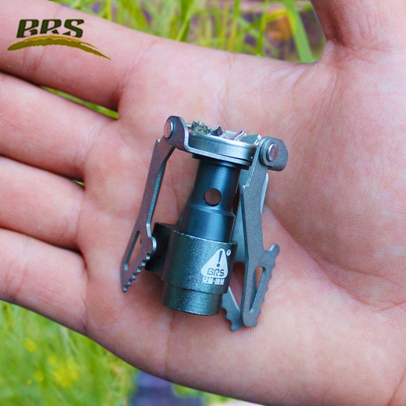 Portable BRS 3000T Titanium Metal Gas Stove 25g <font><b>Lightweight</b></font> Quenching Furnace Cooker Burner for Outdoor Camping Outdoor Stoves