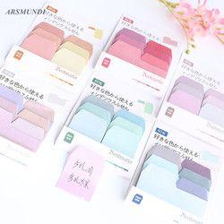Multicolor kawaii autoadhesivas notas adhesivas lindo Memo pad escuela Oficina papeleria planificador Adhesivos escuela suministros