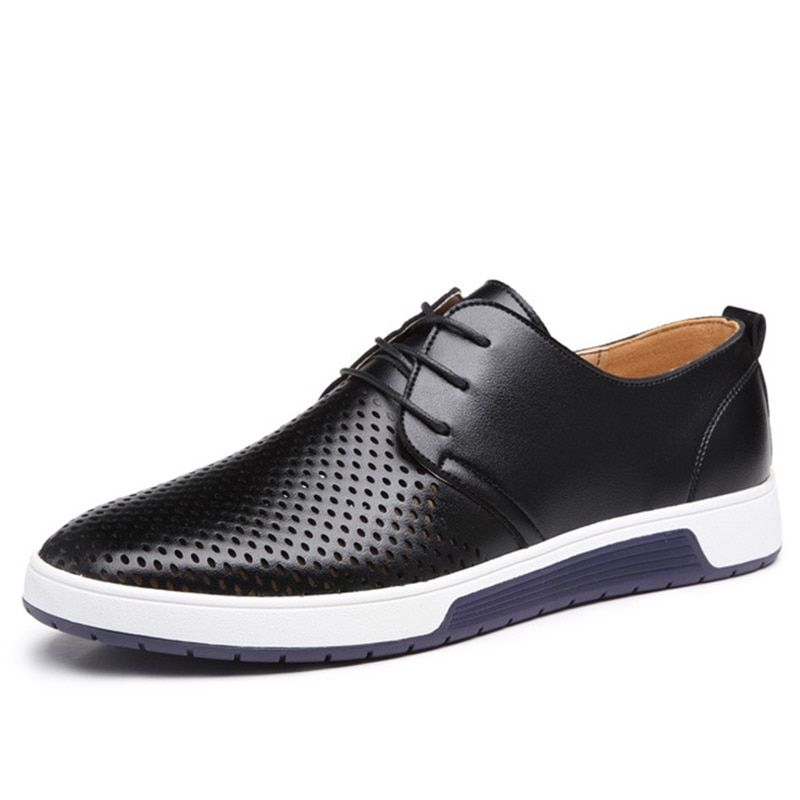 Drop shipping Leather Men Shoes New 2018 Summer spring Fashion Men Casual Shoes For Male Sneakers Flats <font><b>plus</b></font> large size 37-48