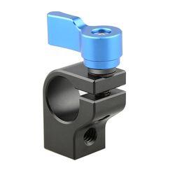 CAMVATE 15mm Rod Clamp (Blue Thumbscrew)