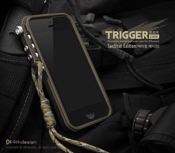 4 thdesign cellulaire téléphone trigger métal cadre pare-chocs pour iphone 8 4 4S 5 5S SE 6 6 S 7 plus butoir en aluminium édition tactique LIVRAISON