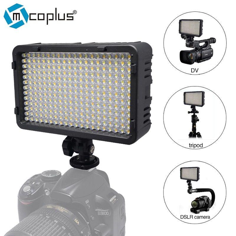 Mcoplus 198 LED lampe d'éclairage photographique vidéo pour caméscope DV et Canon Nikon Pentax Sony Panasonic Olympus appareil photo reflex numérique