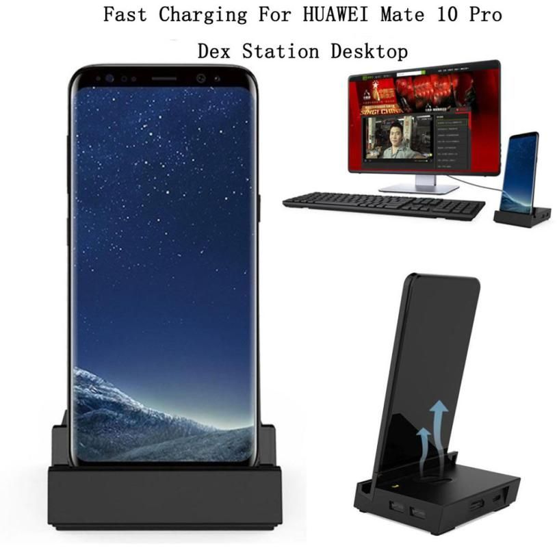 Carprie New HDMI Dex Station Desktop Extension Fast Charging Dock For HUAWEI Mate 10 10 Pro 18Mar02 Drop Ship F