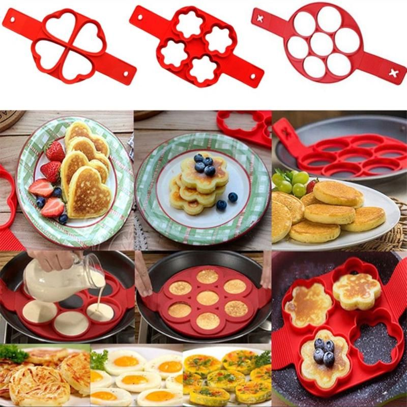 Non Stick Cooking Tool Egg Pan Flip Breakfast Maker Cheese Egg Cooker Eggs Mold Kitchen Baking Accessories W $