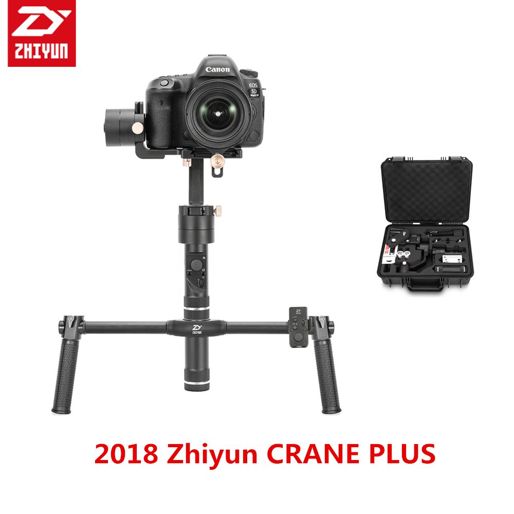 2018 Zhiyun Crane + Plus 3-axis Handheld Gimbal DSLR gimbal stabilizer 2.5KG Load for DSLR MIRRORLESS Gyro FR SONY A7 A6 GH5 5D4
