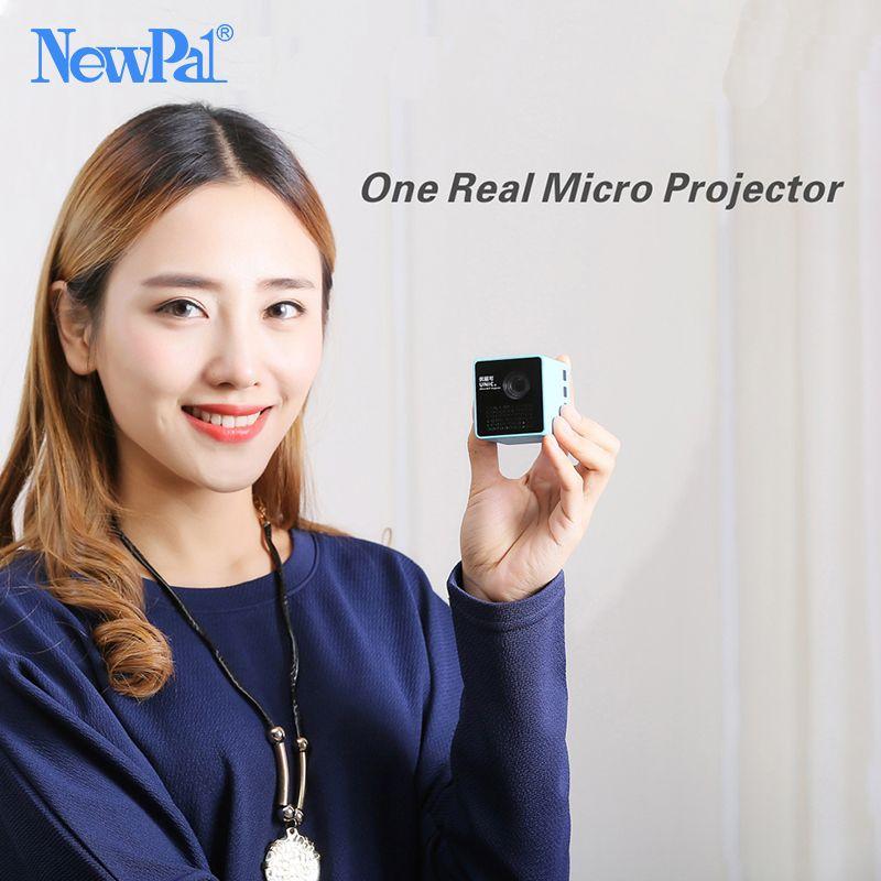 Ultramini DLP Projecteur P1 Projecteur (WIFI Version Option) Full HD Mini Beamer Soutien 70 pouces 64gTF avec 1000 mAh Batterie