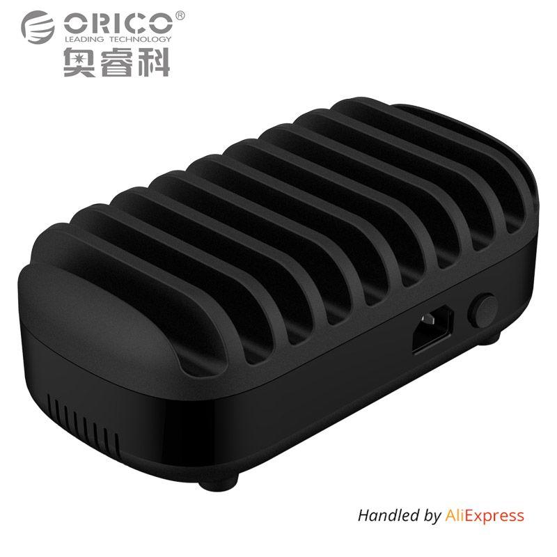 ORICO 10 Порты USB Зарядное устройство Док-станция с держателем 120 Вт 5V2. 4A * 10 зарядка через USB для смартфонов Планшеты PC Применить для дома обществ...