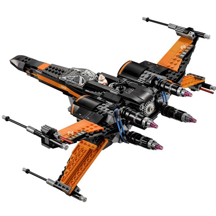 mylb New 845pcs Star Wars First Order Poe's X-wing Fighter Assembled Toy Building Block Compatible legoed With gift