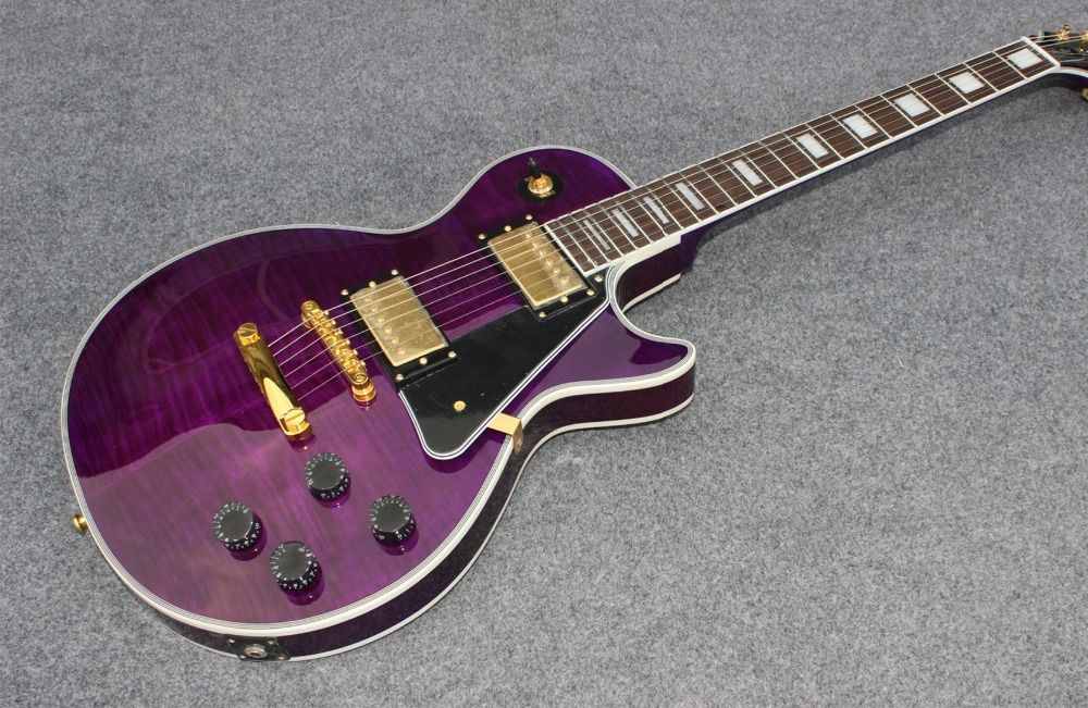 new arrival high quality Chinese Vicers purple burst color electric Guitar and body top AAA grade falme+high quality guitarra
