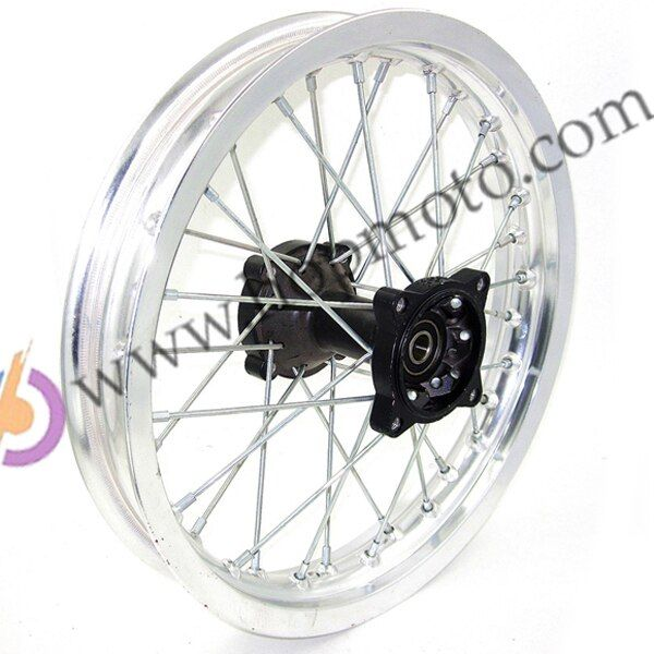 Silver 14inch Rear Rims Aluminum Alloy Disc Plate Wheel Rims 1.85x14