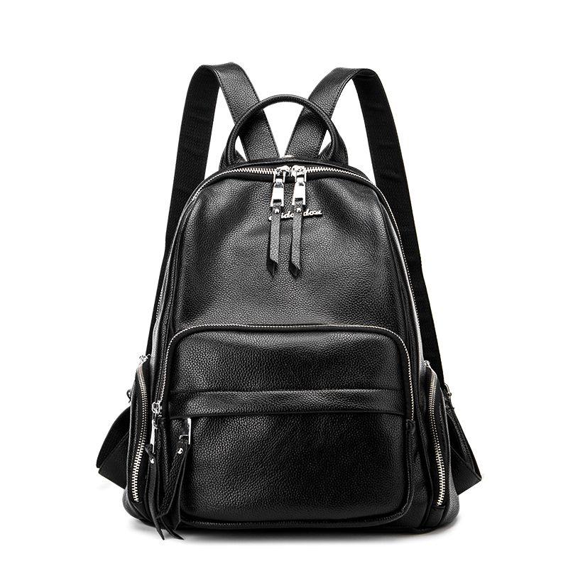Новый 2017 реальные Пояса из натуральной кожи Для женщин рюкзак женщина корейский стиль дамы ремень сумка для ноутбука ежедневно рюкзак для д...