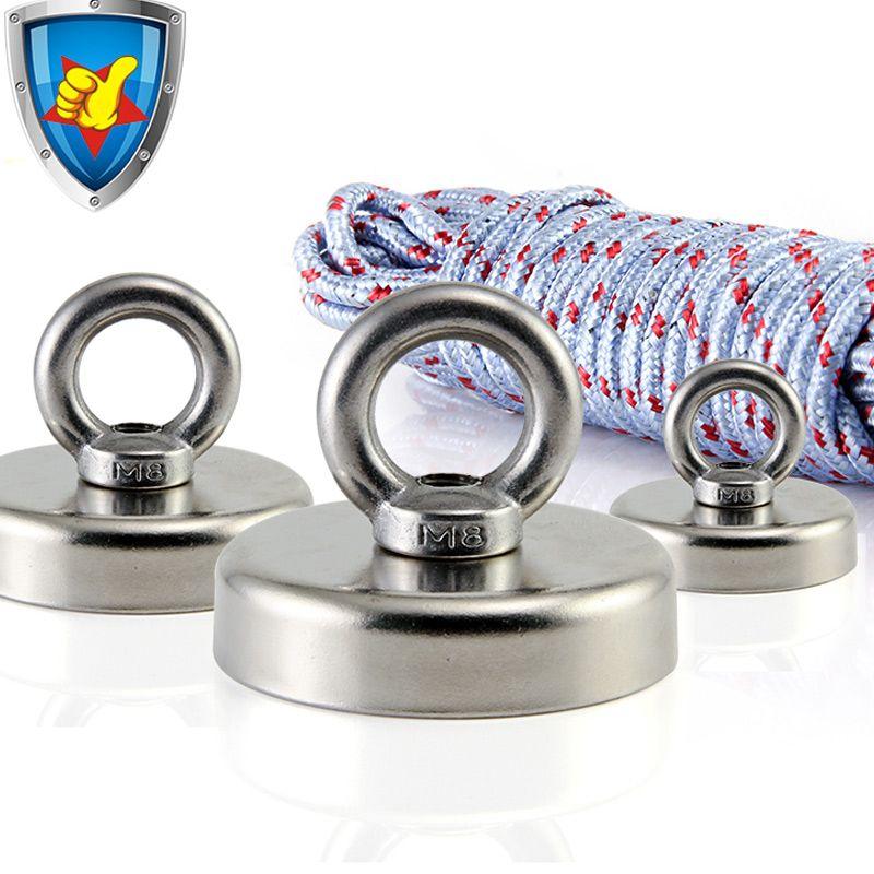 strong salvage magnet pot fishing magnets deep sea salvage fishing hook Neodymium magnet all size  treasure hunter holder