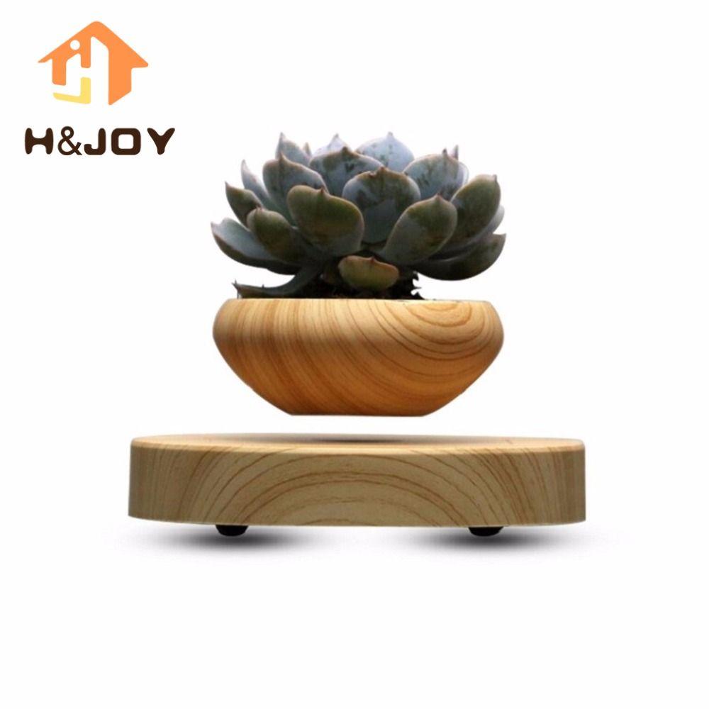 Japan Magnetic Levitation Air Floating Bonsai Plant Pot Mini Plastic Flower Sky Plant Pot Succulent Plant Pot for Decoration-K1