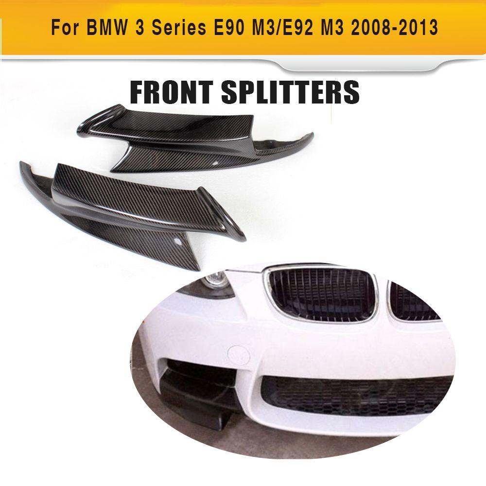 3 carbono serie Fibra coche delantero splitters delantal spoiler para BMW E90 sedán e92 coupé e93 convertible m3 08 -14