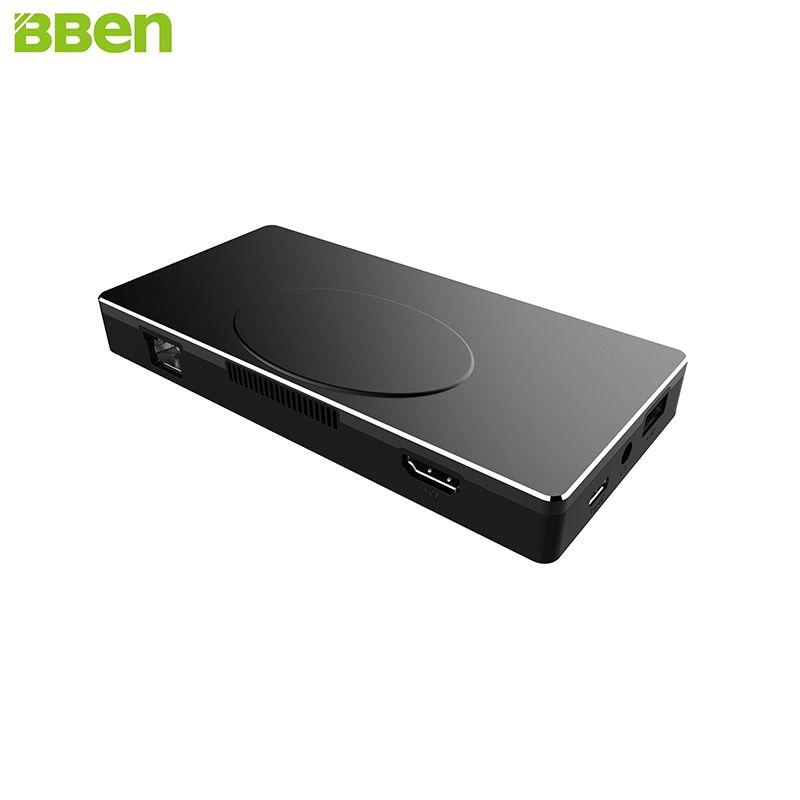BBen MN17A Mini PC Windows 10 Intel Celeron Apollo N3450 Quad Core 4 GB RAM HDMI Rollenmaschinenlinie Typc LAN Mobile Business Stick PC Mini Computer