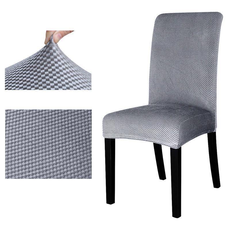 Housse de chaise universelle motif Jacquard housse de siège extensible housse de protection pour hôtel salle à manger banquet décoration de la maison