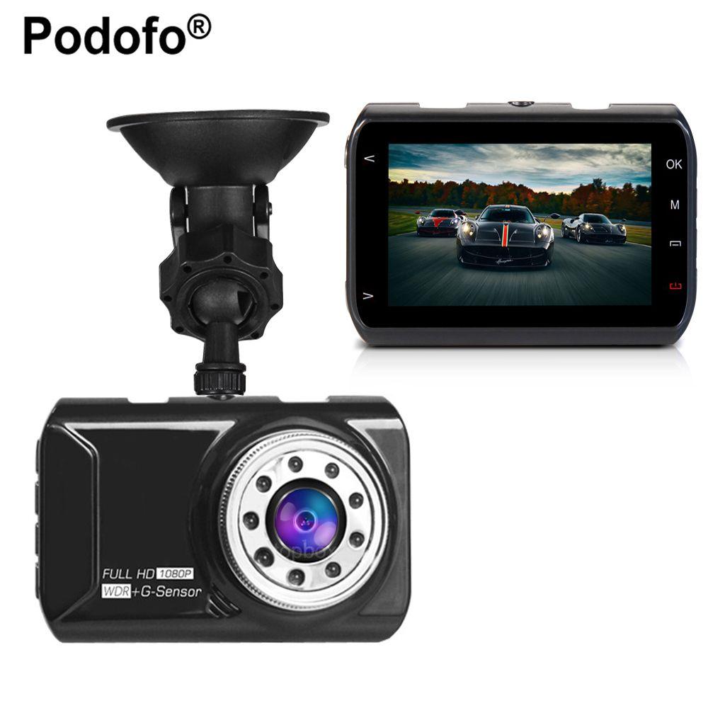 Podofo Novatek 96223 Car DVR Car Camera Dash cam 3 inch 1080P 170 Degree Wide Angle Video Registrator G-sensor Night Vision