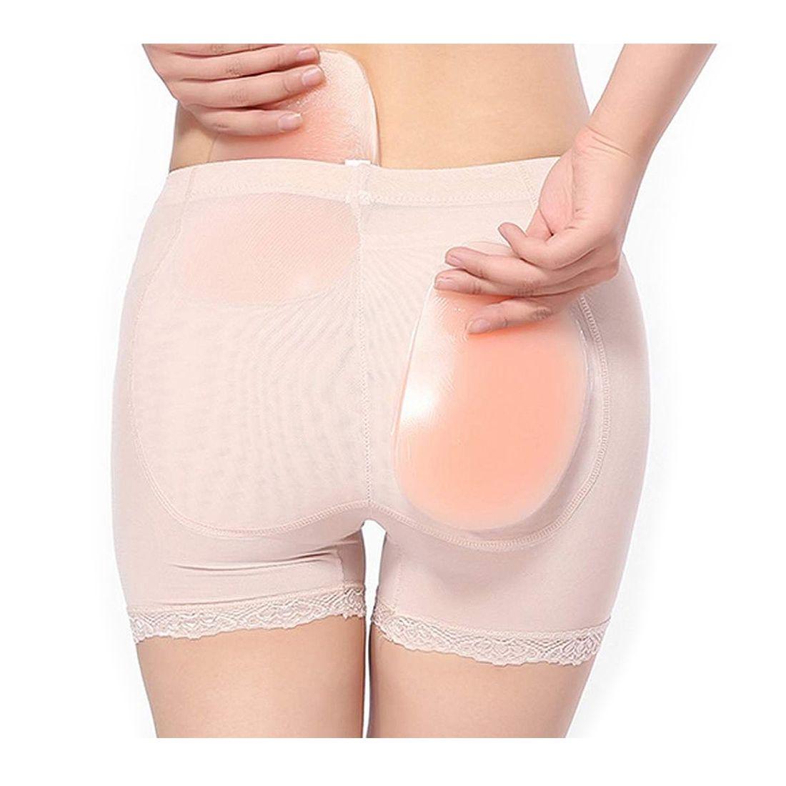 Hot Women Sexy beige Silicone Hip Up Pads Butt Enhancer Booster