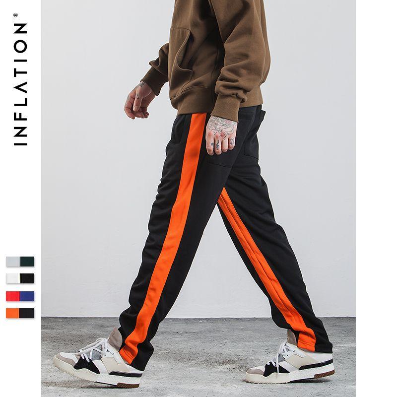 INFLATION 2017 Neue Herbst Herren Sportswear Hosen Seite Streifen Jogger Hosen Elastische Taille Vintage Lässige Herren Hose 348W17