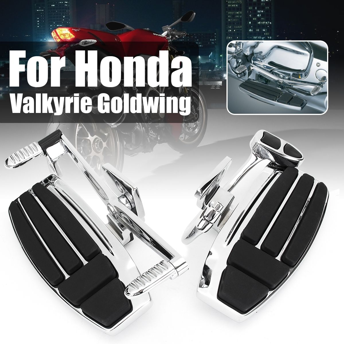 Aluminum Alloy Driver Front Motorbike Foot Board Peg for Honda Valkyrie 1800 2014-2015 Goldwing GL1800 2001-2016 F6B 2013-2016