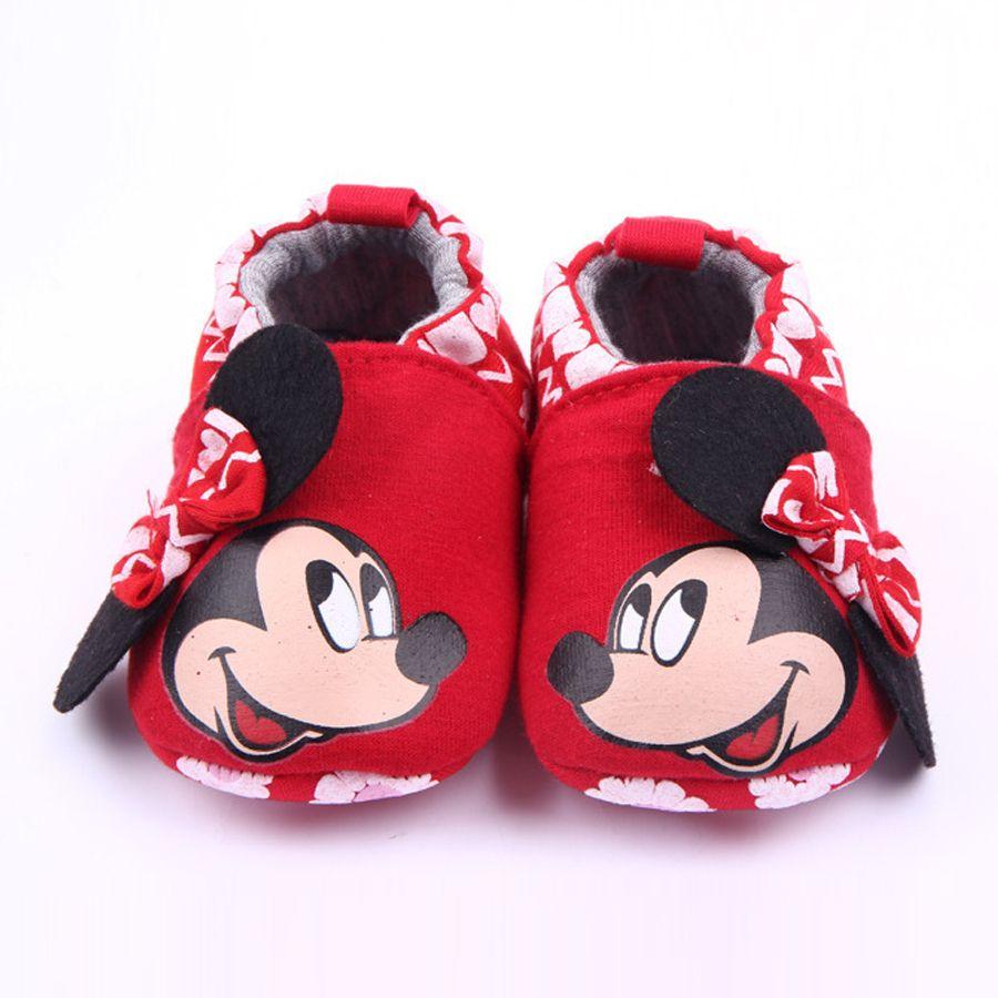 Zapatos Del Bebé marca de Dibujos Animados Minnie Zapatos del Pesebre Infant Toddler Zapatillas Unisex Loafers Newborn Prewalker Informal Calzado de Moda