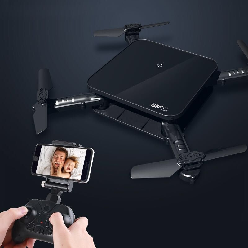 SMRC S1 mini rc drone with hd wifi camera pocket Selfie 2.0MP WiFi FPV Real Time Folding Helicopter for Chrismas toy boy gift