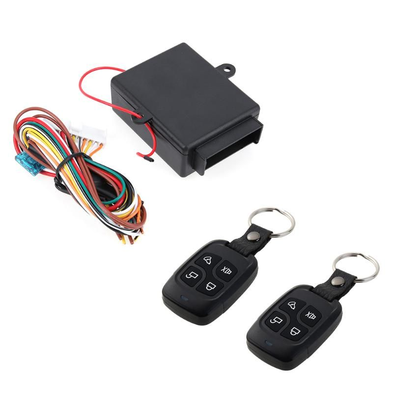 Universal Auto Car Remote Central Kit Door Lock Locking Vehicle Keyless Entry System With Remote Controllers Car Alarm System