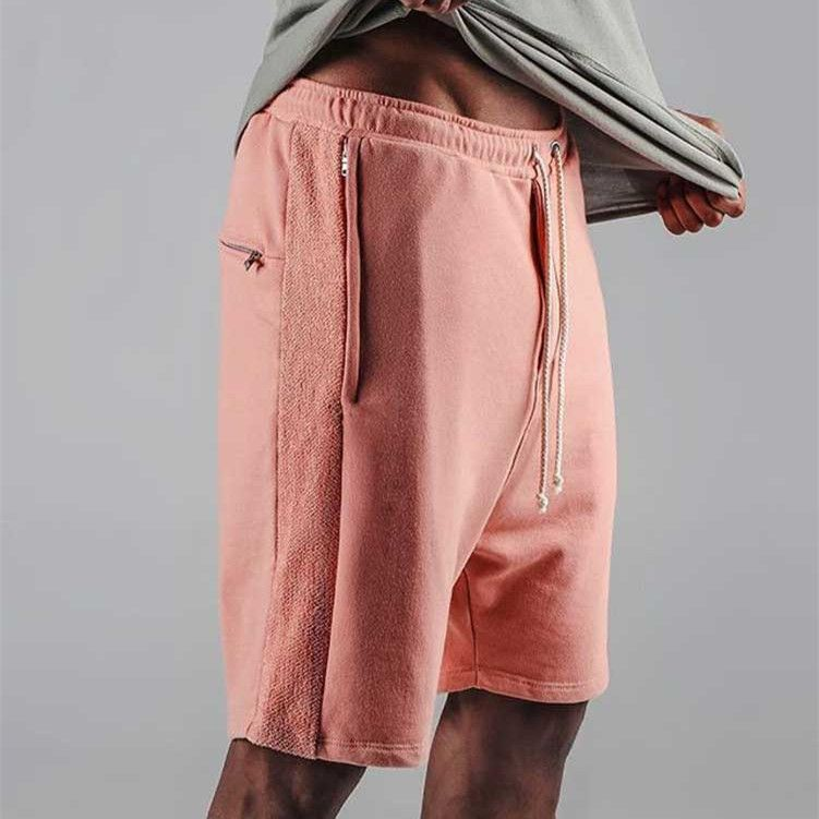 2017 Джастин Бибер Шорты для женщин Kanye Drop Crotch Drawstring пот Шорты для женщин карман на молнии мужские хип-хоп шаровары короткие штаны M-XL