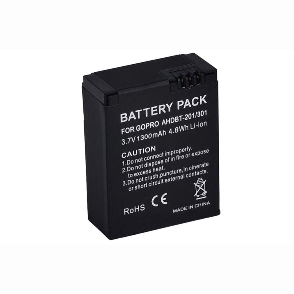 AHDBT-301 AHDBT-201 for Go Pro Accessory 1pc 1300mAh Camera Battery for Gopro Hero 3 3+ AHDBT-301, AHDBT-201