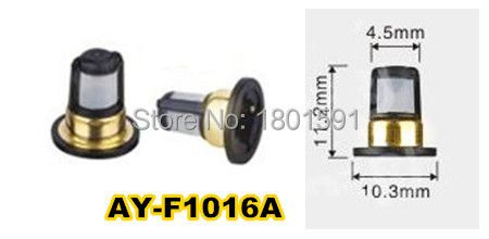 TOP quality 200pieces fuel injector filter  for NISSAN cars  (11.2*10.3*4.5mm,AY-F1016A)